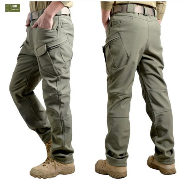 Men Winter Waterproof Fish Tactical Shark Skin SoftShell Hiking Military Pant