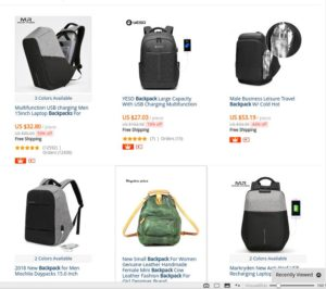 Backpack Search On Aliexpress