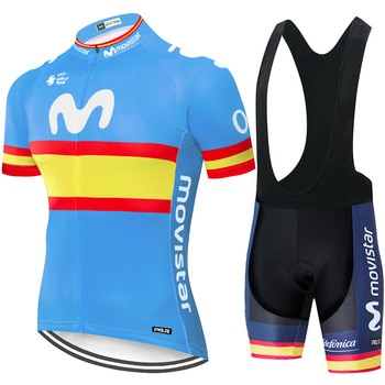 2020 Team Movistar cycling jersey men cycling set Maillot Ropa Ciclismo Jersey Men Summer Bike Jersey Set Bike Bicycle Wear MTB
