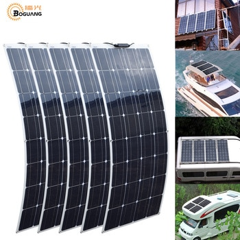 2Pcs 4Pcs 10Pcs 100W solar panel Monocrystalline Solar Cell Flexible for Car/Yacht/Steamship 12V 24 Volt 100 Watt Solar Battery