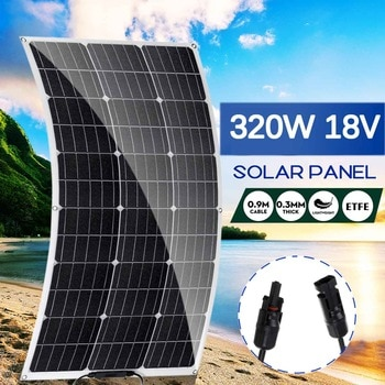 320W Semi-flexible Solar Panel 18Volt Solar Cell Cell Module DC for Car Yacht Light RV Boat Water Pump Outdoor Battery Charger