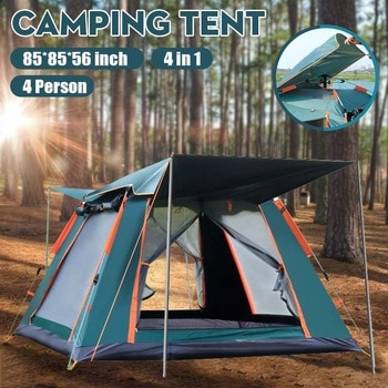 6-7 People Throw Tent Outdoor Automatic Tents Double Layer Waterproof Camping Hiking Tent 4 Season Outdoor Large Family Tents