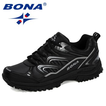 BONA 2020 New Designers Hiking Shoes Male Mountain Climbing Trekking Shoes Man Cow Split Sport Walking Shoes Men Trendy Sneakers