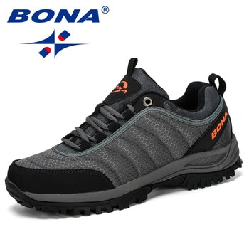 BONA 2020New Arrival Hiking Shoes Man Mountain Climbing Shoes Outdoor Trainer Footwear Men Trekking Sport Sneakers Male Comfy