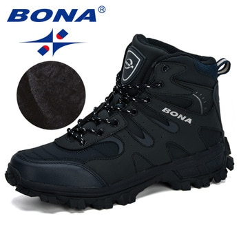 BONA New Designers Nubuck Hiking Boots Krasovki Tactical Shoes Men Outdoor Non-Slip Hiking Shoes Man Mountain Shoes Trendy