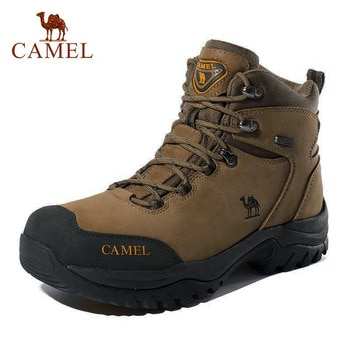 CAMEL Men Women High Top Hiking Shoes 2019 Durable Waterproof Anti-Slip Outdoor Climbing Trekking Shoes Military Tactical Boots