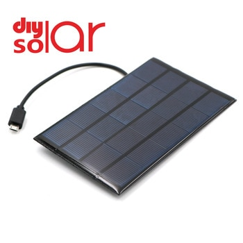 DC Solar Panel 400mA 2W 5V USB Micro Output Battery Charger Voltage Regulator Mobile Phone Power Bank Wire DC Outdoor Solar Cell