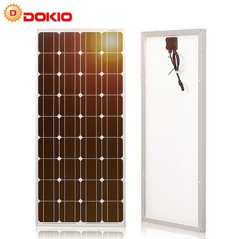 Dokio 12V 100W Rigid Solar Panel China 18V Monocrystalline Silicon Waterproof Solar Panel Charge #DSP-100M