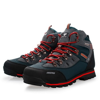 Men Hiking Shoes Waterproof Leather Shoes Climbing & Fishing Boots New Outdoor Sports Trainers High Top Winter Trekking Sneakers