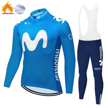 Movistar cycling clothing men winter Long sleeve cycling Jersey MTB breathable Ropa Ciclismo Bicycle winter cycling wear