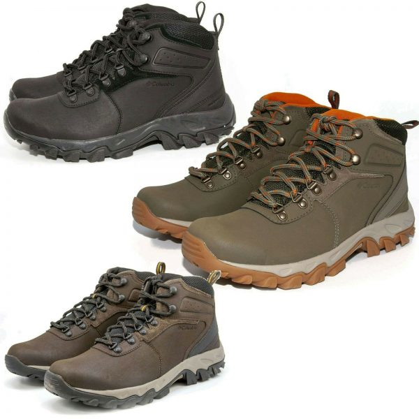 NEW Columbia Men's Newton Ridge Plus II Waterproof Hiking Lace-Up Trail Boots