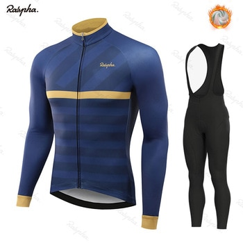 NWFUL Winter Thermal Fleece Set Cycling Clothes Men Jersey Suit Sport Riding Bike MTB Clothing Bib Pants Warm Sets Ropa Ciclismo