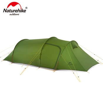 Naturehike Ultralight Opalus Tunnel Tent for 2~4 Persons 20D/210T Fabric Camping Tent with Free Footprint NH17L001-L