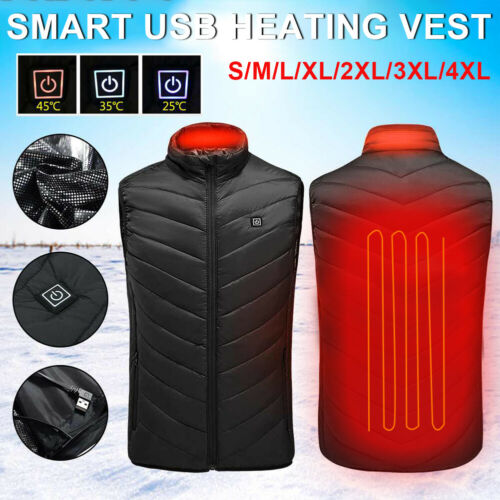 Outdoor Electric Heated Vest USB Sale Camping Hiking Warm Hunting Jacket