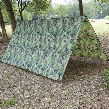 Outdoor Shelter Ultralight Tarp Camping Survival Sun Mat Shelter Beach Waterproof Shelter Multifunctional Rain Beach Awning D8N8
