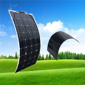 Portable Semi flexible Solar Panel 100W 12V monocsytalline Solar Cell 100W; Monocrystalline Solar Panel RV Boat Home