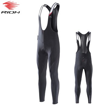 RION Mens Cycling Pants 2020 Spring Warm Thermal Cycling Bib Tights MTB Mountain Road Bike Pants Bretelle Ciclismo