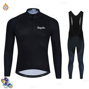 Raphaful 2020 Winter Cycling Clothing Men's Long Sleeve Fleece Cycling Jersey Breathable Ropa Ciclismo Invierno Hombre Termica