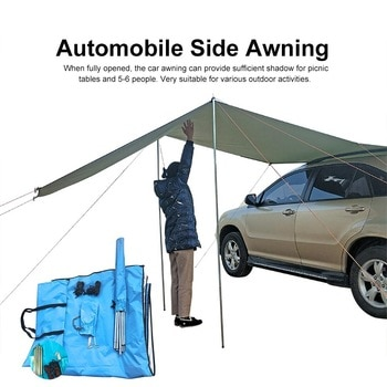 S M L Awning Waterproof Tent Shade Ultralight Awning Canopy Sunshade Outdoor Camping Tent For Car SUV MPV Trucks Hatchbacks