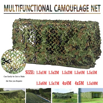 Sun Shelter 2mx10m 4m 3m 1.5mx3m 5m 7m Hunting Military Camouflage Nets Woodland Army Camo Netting Camping ShelterTent Shade Car
