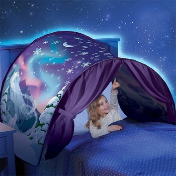 Up Bed Tent Kids Baby Cartoon Snowy Foldable Portable Playhouse Comforting Sleeping Indoor Outdoor Camp Tipi Toys For Children