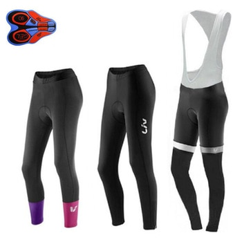 Women LIV Black/red summer autumn Cycling Pants 9d Gel Pad Bike Bicycle Trousers Long Culotte Ciclismo Cycling Wear Tights