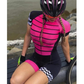 Women Profession Triathlon Suit Clothes Aofly Cycling Skinsuit Body Set Pink Roupa De Ciclismo Rompers Go Pro Team Jumpsuit Kits