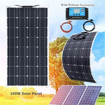 Xinpuguang 100 W flexible solar panel kit 12v 100 watt 120w 200w for Home Yacht RV Caravan Cabin Boat and 12v Battery Charger