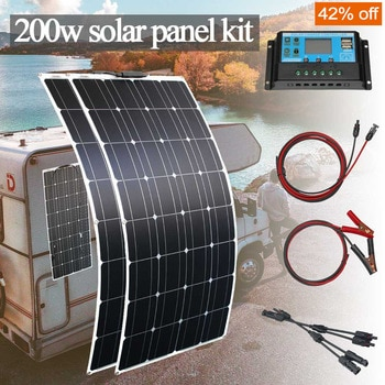 cheap panel solar 12v mono flexible solar panel 1000w kit 100w 200w for home car rv boat with controller
