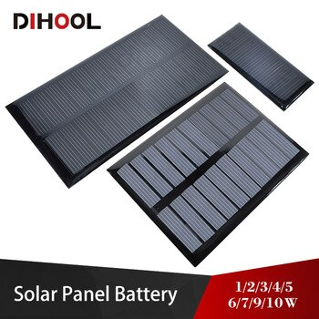 Solar Panel 5v 6v 9v 12v 18v Photovoltaic Panel Epoxy Solar Cell 1w 2w 3w 5w 6w 7w 9w 10w Battery Charger For Mini Solar System