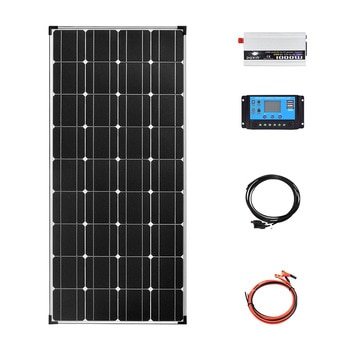 Solar panel System kit complete 12v 110V 220v 1000W inverter charger Photovoltaic power for home RV trailers boats sheds